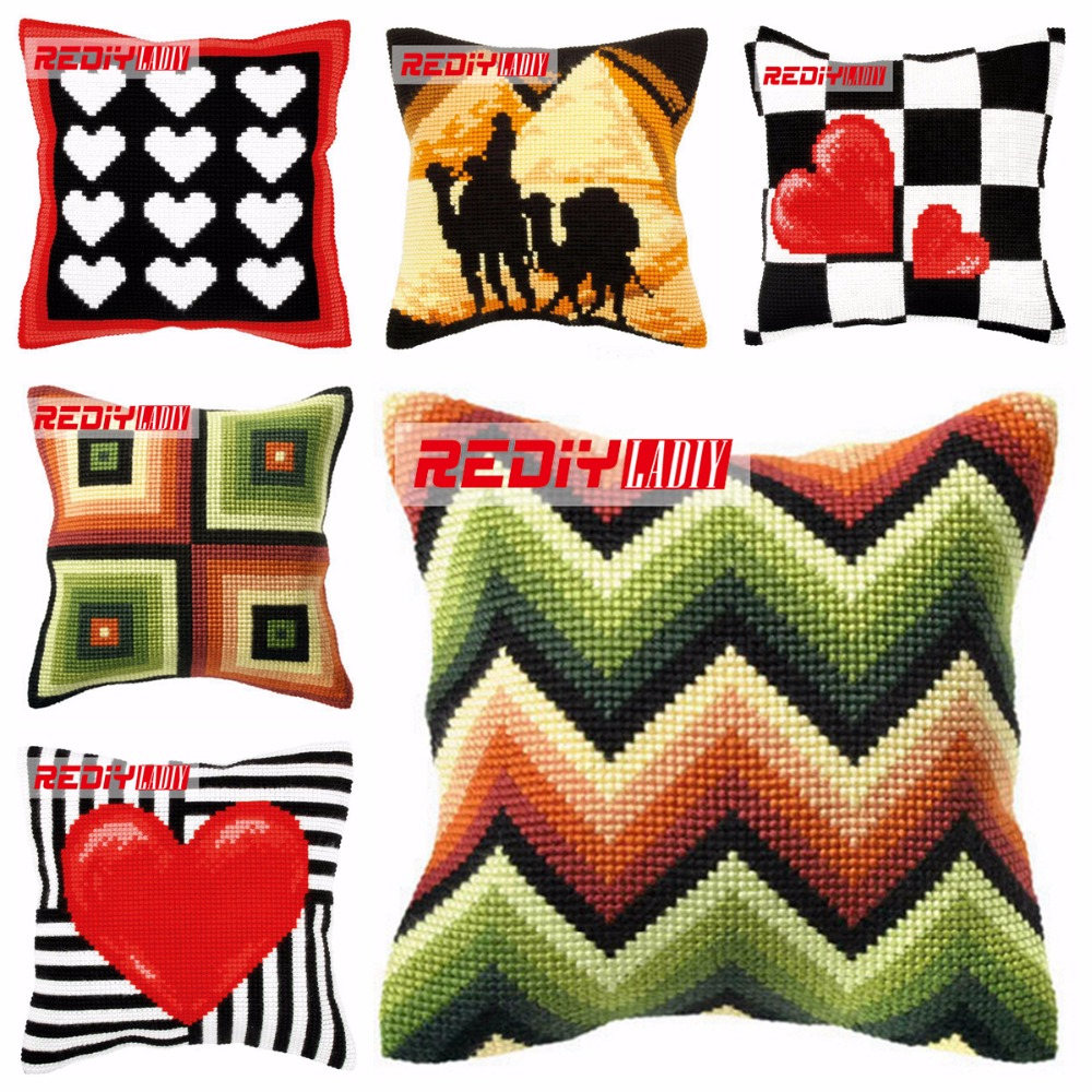 Ladiy Cross Stitch Cushion Cover Yarn For Embroidery Cushions For