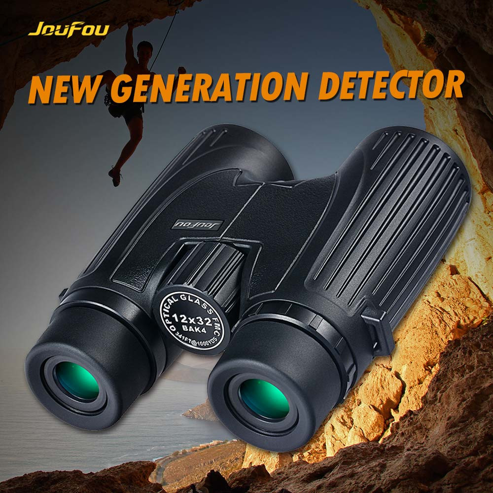 JouFou 12X32  High Quality Wide Angle Telescope High Magnification Binoculars Waterproof  Night Vision Camping Hunting sridhar k spirulina and lactobacillus sporogenes for aquaculture