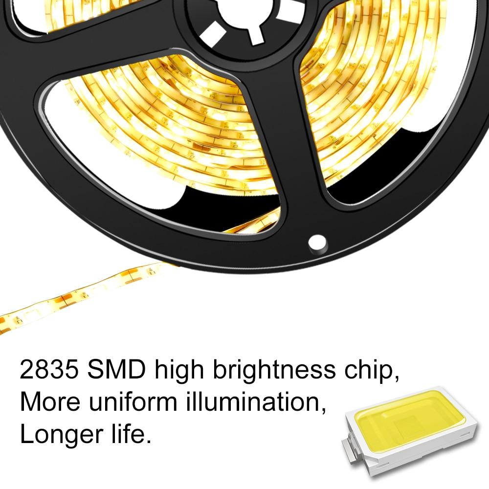 Night Light PIR Motion Sensor Light Tape SMD 2835 Waterproof Kitchen 5V LED Strip 1M 2M 3M Tiras Led Stair Bed Wardrobe Lamp Bar in LED Night Lights from Lights Lighting