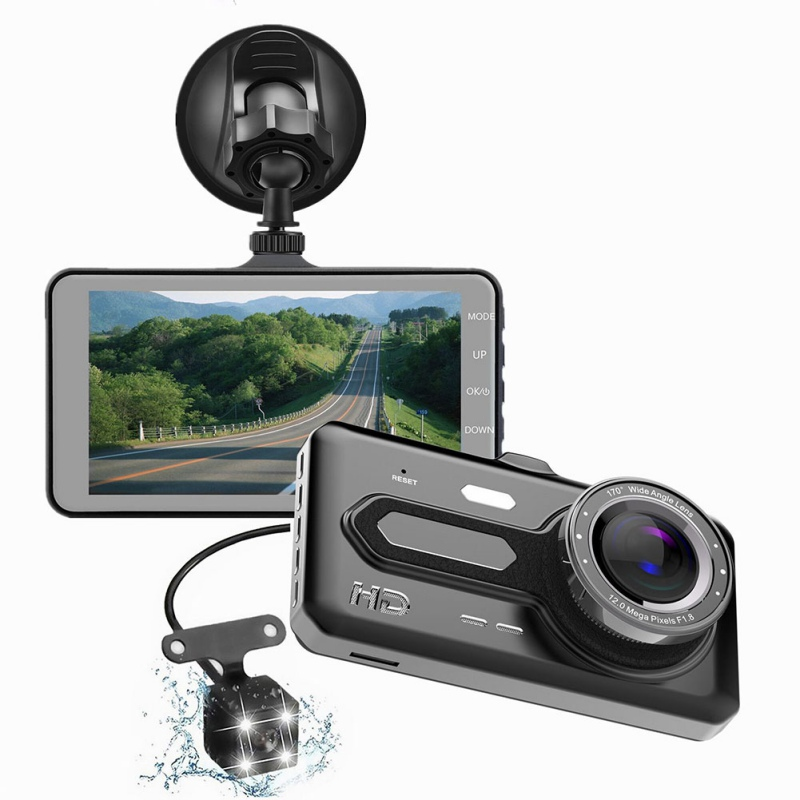 AUTMOR Car DVR Driving-Recorder Switching Touch-Screen Car-Camera 4-Inch HD Multi-Language