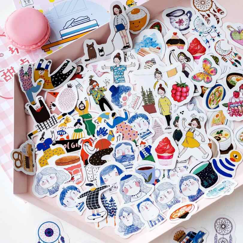 45 PCS/pack Cute mini Vintage travel Life sticker scrapbooking DIY paper pack seal label diary bullet journal kawaii stationery
