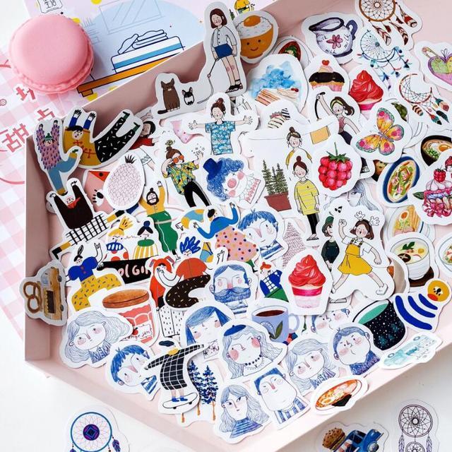 45 unids/pack lindo mini Vintage viaje vida pegatina scrapbooking DIY paquete de papel sello etiqueta diario bala diario kawaii papelería