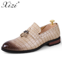 XIZI 2018 Men's Leather Brand Shoes Business Leather Men's Shoes Fashion Wedding Shoes Breathable Pointed Casual Shoes Units