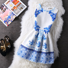 Women Clothing Summer Autumn Casual Vintage Vest Party Dress Ladies Floral Print Dress Princess Sleeveless Slim