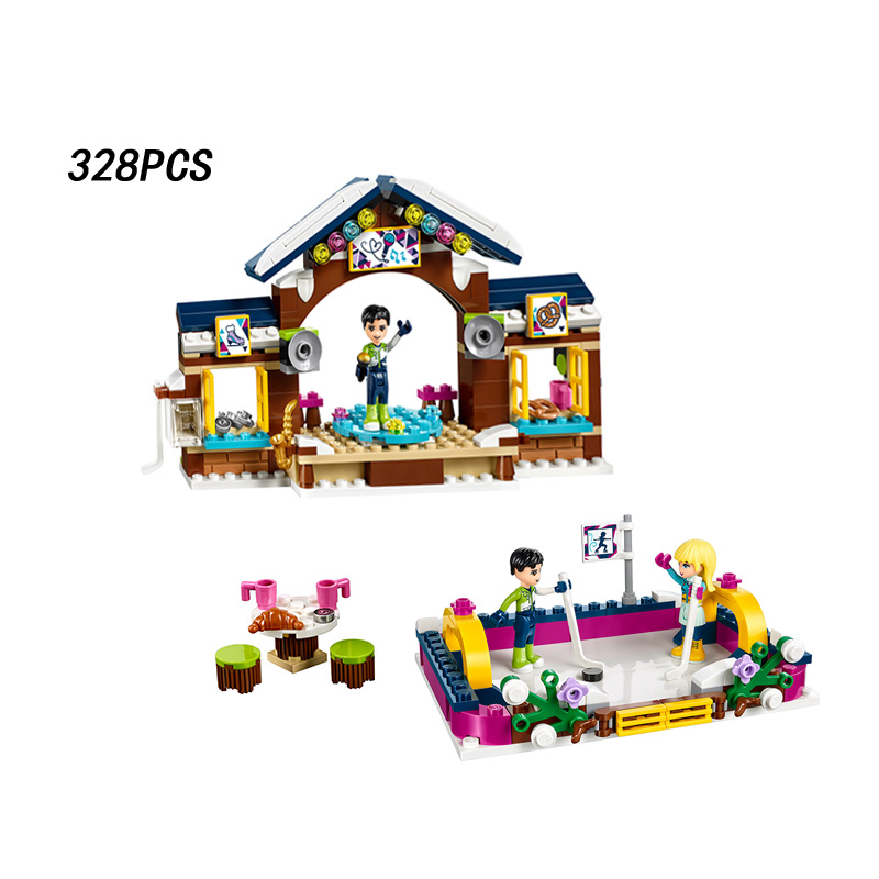 My good friends Girls club snow resort ice rink building block doll Stephanie figures Stage bricks 41322 toys for kids gifts