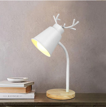 Modern creativity nordic deer table lamp extremely simple lights for bedroom bedside lamps study room desk light reading light