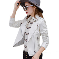 Women S Jacket Summer Loaded New Korean Motorcycle Leather Womens Short Paragraph Slim Was Thin Pu