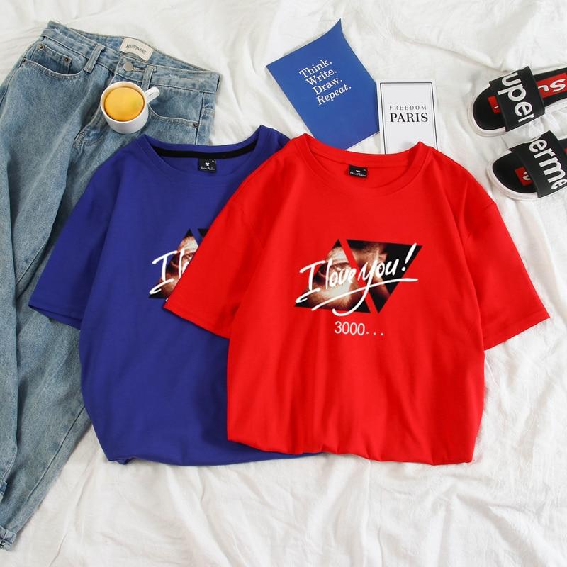 I Love You 3000 Avengers Endgame T Shirt Iron Man Tony Stark Men Tee Shirt Female Couples Clothes Harajuku Cotton 9 Colors Top