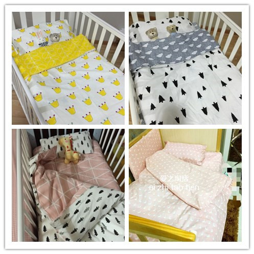 Promotion! 3PCS Baby bedding set crib bedding set 100% cotton bed clothes bed decoration ...
