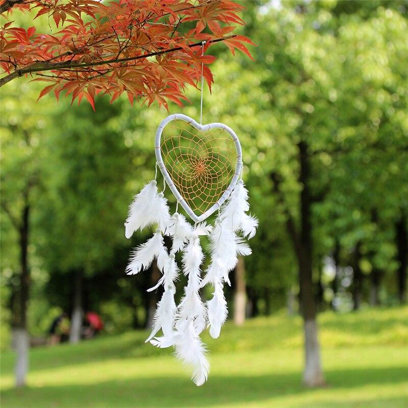 Us 234 Outdoor Wedding Decorations Ideas Handmade Dream Catchers Diy Home Decor Metal Hoop Hanging Indian Feather Dreamcatcher For Sale In Wind