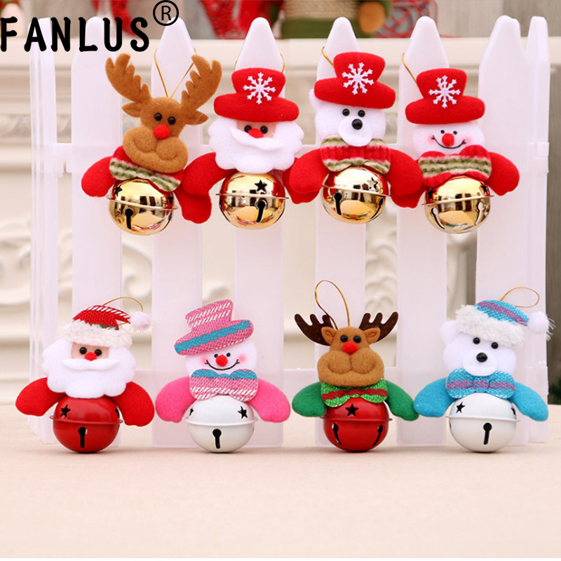 fanlus christmas bells decorations for home christmas tree ornaments snowmanold manbearelk