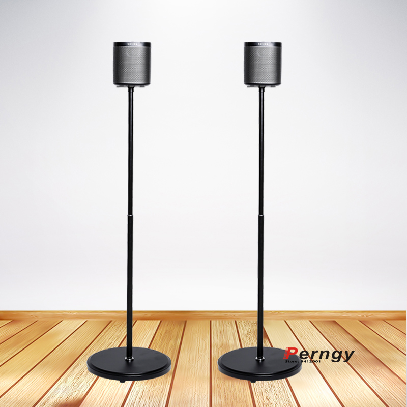 (1 Pair=2pcs) SO-F1 95cm-117cm Round Columu Base Adjustable Surround Sound Speaker Floor Stand MOUNT Holder Sonos Play 1