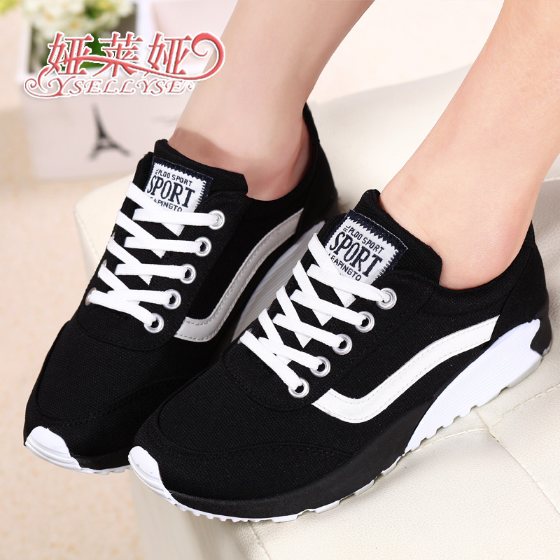 Spring autumn casual platform shoes single plus size women's sport breathable running sports - Wyatt happy store