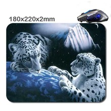 DIY Tigre Fond Decran 3 D Fast Print Mouse Pad Size 180 X220x2mm Custom Rubber Gaming Laptop Computer Mouse Pad