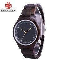 SIHAIXIN Luxury Sandalwood Wooden Watches Women Fashion Ultra Light Qaurtz Women Ladies Watch Vintage Relogio Feminino