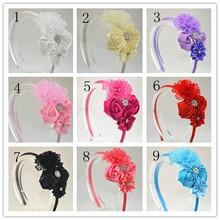 1pcs  Solid color beautiful beautiful hair Rhinestone Tiara band stars children of Princess  headwear girls hair accessories