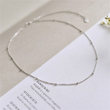 Flyleaf 925 Sterling Silver Choker Necklace Women Beads Simple Fashion Chain Fine Jewelry  Party High Quality Short Necklace цена