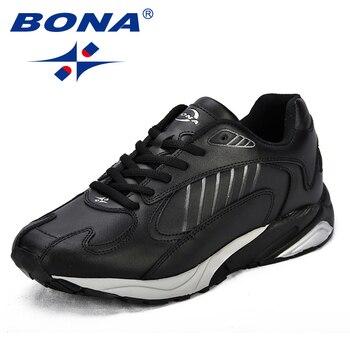 finest selection 847c6 e9413 BONA Neue Klassiker Stil Männer Laufschuhe Split Leder Männer Sportschuhe  Outdoor Jogging Schuhe Bequeme Turnschuhe