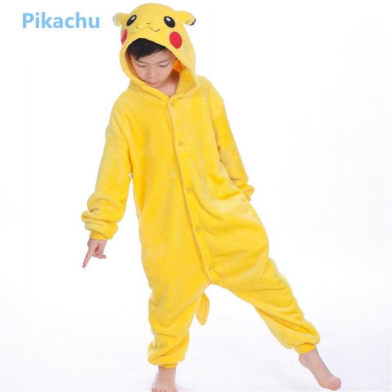 Flannel children cute animal tigger unicorn panda pikachu costume Christmas costume for boys girls Holiday cosplay