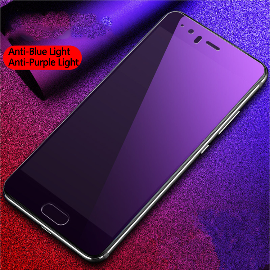 Tempered Glass For Huawei P Smart Plus Nova 3i 2S 2i 7A 7 8X 7C Y7 Prime 2018 Anti Blue Purple Light Matte Screen Protector Film in Phone Screen Protectors from Cellphones Telecommunications