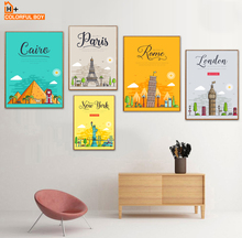New York Paris London Rome City Landscape Wall Art Canvas Painting Nordic Posters And Prints Pictures Baby Kids Room Decor