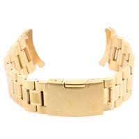 WA065 24mm Golden Wristwatch Part Stainless Steel Metal Bracelet Watch Strap Men's watch Band Accessories Watchbands Reloj Mujer
