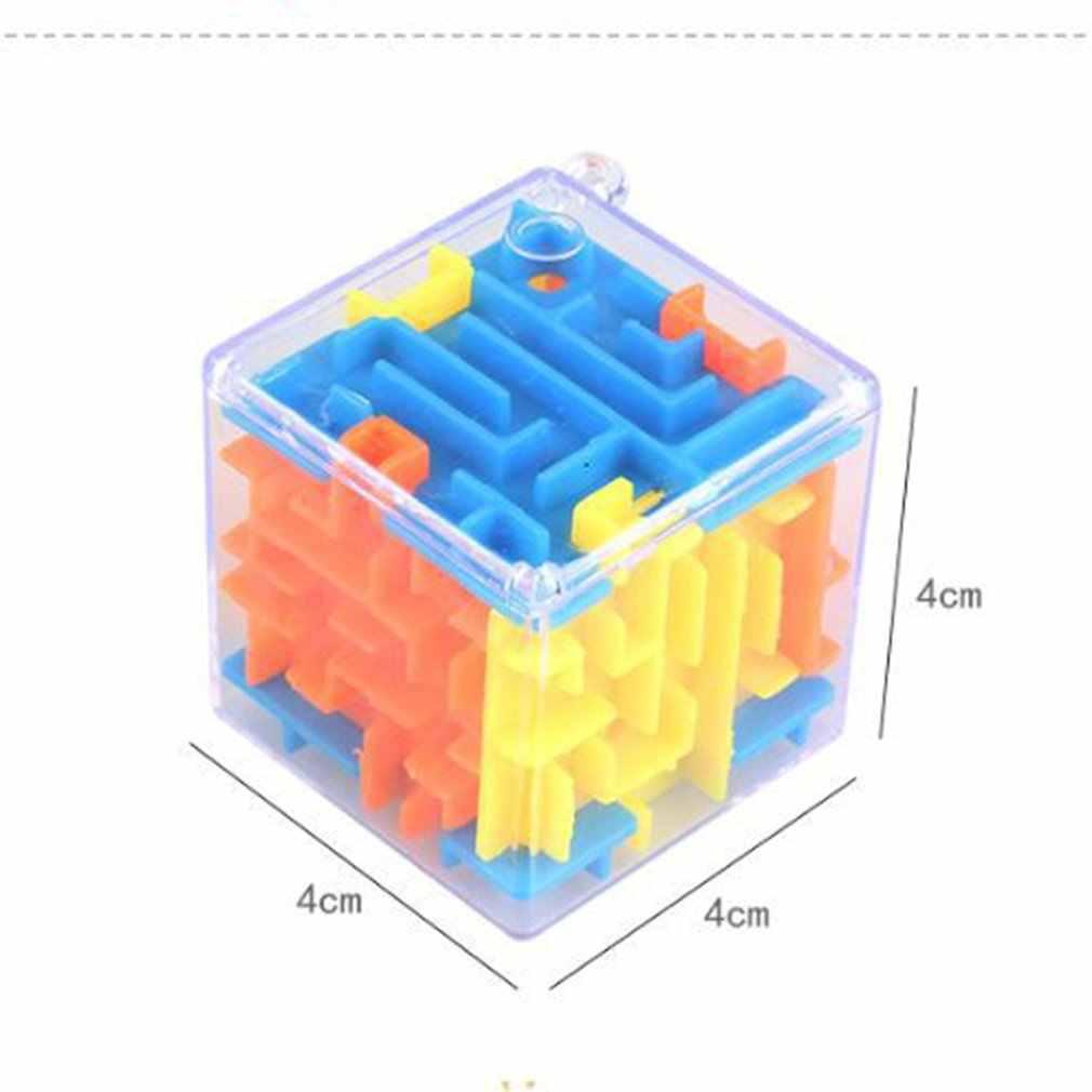 3D Mini Labyrinth Magic Cube Puzzle Geschwindigkeit Cube Labyrinth Rolling Ball Spielzeug Puzzle Spiel Cubos Magicos Lernen Spielzeug Für Kinder