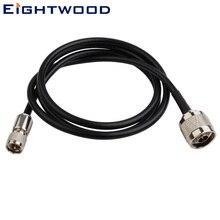 Eightwood радио CB Антенна удлинитель N штекер мини-УВЧ Мужской прямой кабель Пигтейл RG58 1 м настраиваемый для Baofeng Kenwood