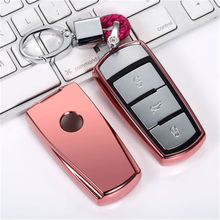 TPU Car Key Case Auto Protection Cover For VW CC Magotan ZOTYE AUTO t700 Holder Shell Colorful Car-Styling Accessories
