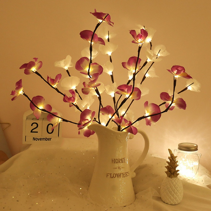 LED Phalaenopsis Shaped Branch Lights Festive Party Home Decoration Lights Decoration