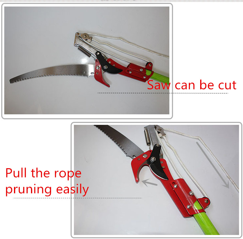 Gardening High-altitude Fruit Tree Branches Fruit Scissors Garden Tools (2m Set) 8 200mm garden scissors elbow blade fruiting branches garden gardening scissors hand tools rasp dremel 2016