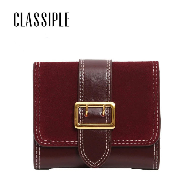 Short Women Wallets Young Lady Scrub Cow Genuine Leather Gril Small Wallet Female Coin Purses For Card Holder Ladies Wallet Gift