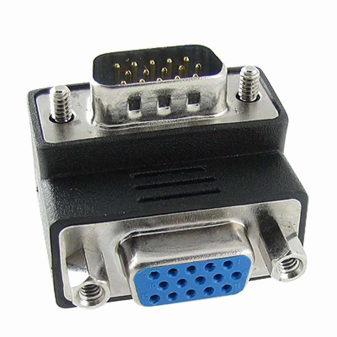 15-Pin VGA для мужчин и женщин M/F адаптер с прямым углом
