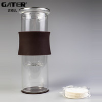 GATER Water Drip Coffee Machine New Permanent Reusable Filter Tools Glass Espresso Coffee Dripper Pot Ice Cold Brew Coffee Maker
