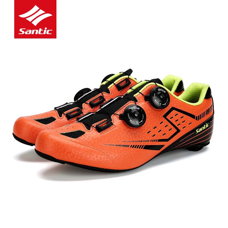 Santic Cycling Road Shoes Men Self-Locking Bike Shoes Racing Bicycle Shoes Carbon Fiber Ultralight Sneakers Sapatilha Ciclismo santic road cycling shoes pro carbon fiber road bike shoes ultralight athletics self locking bicycle shoes zapatillas ciclismo