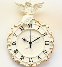 TUDA 2017 Wall Clocks Angel Wall Clock Mute European Garden Wall Clocks