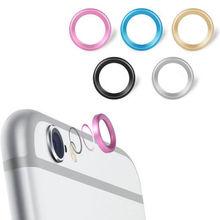 5 colors Metal aluminium Rear Camera Lens Protective Ring Guard Circle for Apple iPhone 6 6s