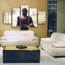 5 Piece Canvas Art Printing Photo Beautiful (Buddha series)Painting Custom Print On Wall Pictures