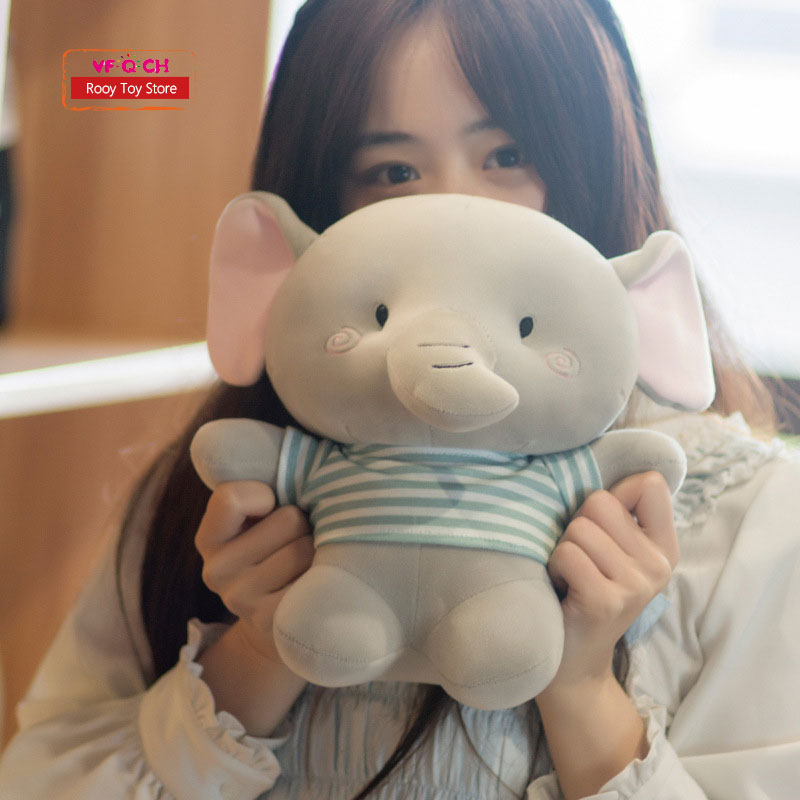 Kawaii Cute Plush Elephant Toys Soft Stuffed Animals Rabbit Dolls Bear Animal Doll Baby Girl Children Birthday Decoration Gift 25cm plush kangaroo toys with soft pp cotton creative stuffed animal dolls cute kangaroos with small baby toys gift for children