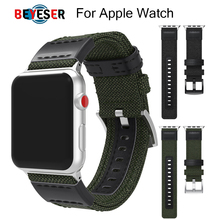 New Woven Nylon Sport Loop band for Apple Watch Series 1 2 3 4 5 44mm 40mm Replacement Strap bands watchband 42mm 38mm wristband