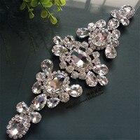 1Piece 21X 8m Silver New Wedding Dress Clothing Waist Decorative Crystal Rhinestone Applique Flower Wedding Bridal