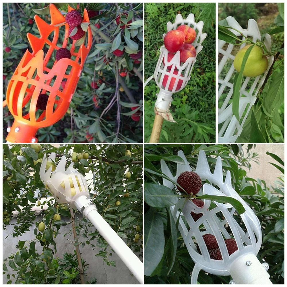 Fruit Tree Plastic Fruit Picker Catcher Fruit Picking Tool Gardening Farm Garden Hardware Picking Device Garden Greenhouses Tool