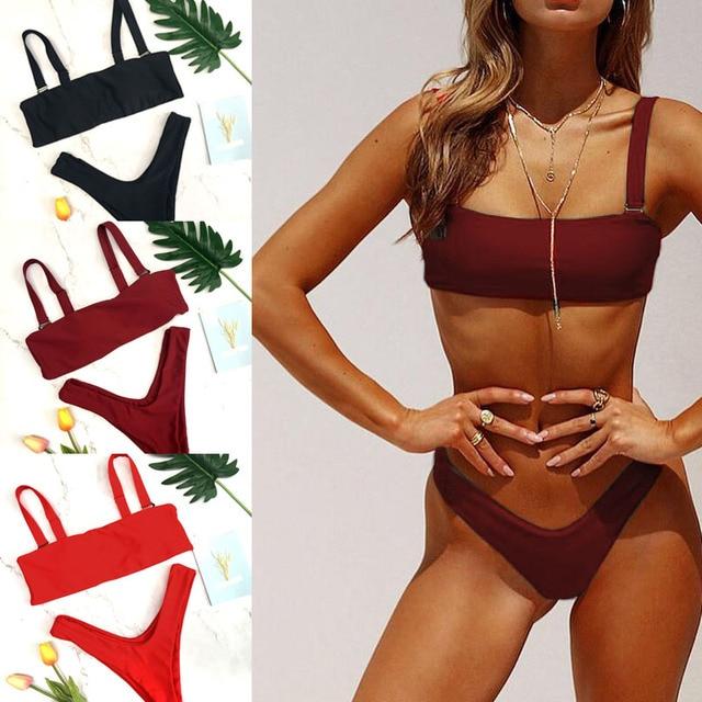 f8262ab60b beach wear bikiny bathing suits2018sexy swimsuit thong modest swimwear high  waist womens bikini bottom swimwear women