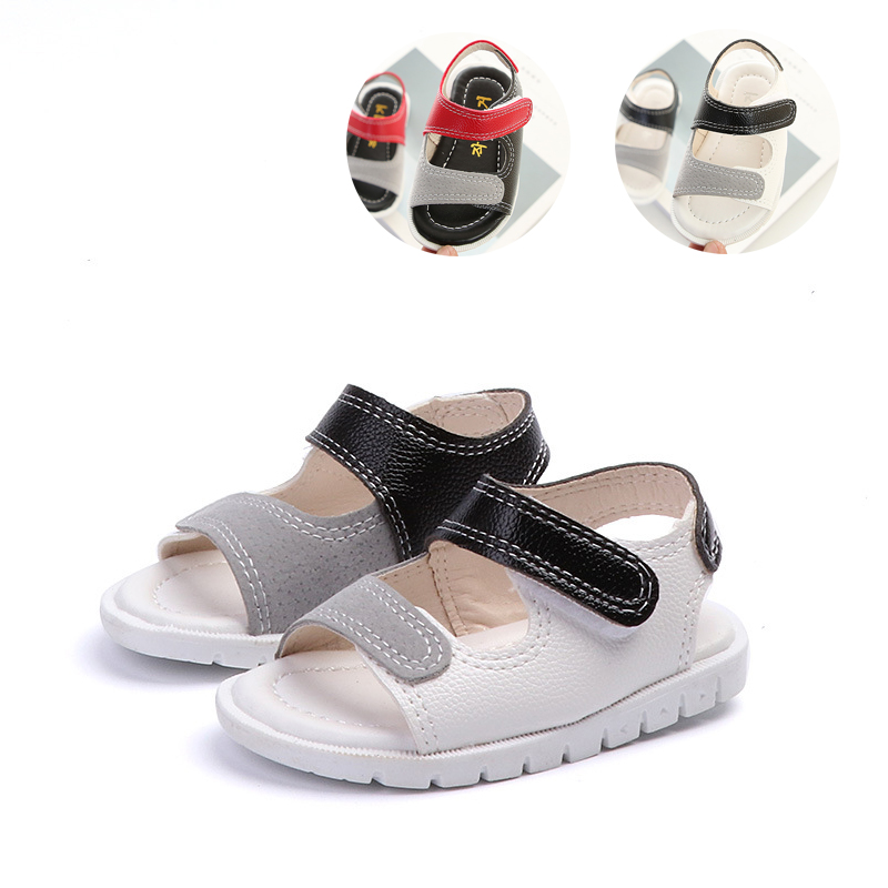 Bavoirsj Colorblock Sandals for The Boy Beach Shoes PU Leather Non-slip Childrens Shoes for Girls B1936