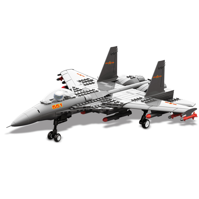 281 Pcs Wange Blocks Fighter Plane Building Blocks Creative Bricks Toy Educational Building Block Bricks Compatible with Lego