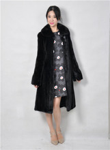 2015 winter woman fashion real mink fur X LONG real mink coat 8043 100YL