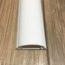 5 шт.(50 см/шт.) пластиковый шнур кожух воздуховода провод управление белый кабель Raceway для 3 провода