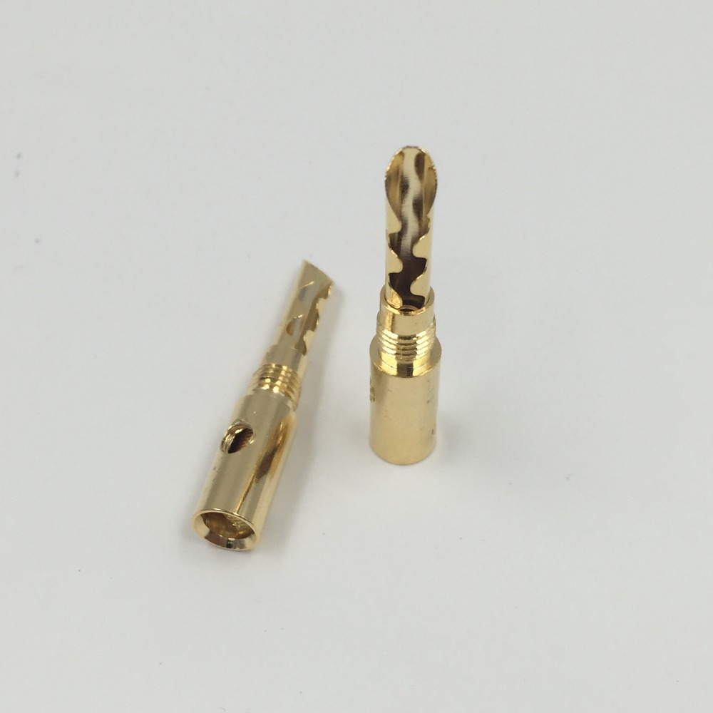 8pcs Nakamichi 24K Gold Plated Copper BFA 4mm Banana Plug Speaker Connector