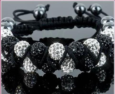 New Style!10mm Two row best cheap Hot White disco Ball Beads Bangles OKE Bracelet jewelry Christmas Gift crystal shamballa