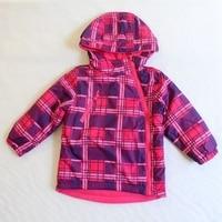 Children Kids Girls Autumn Spring Plaid Jacket Thin Padded Jacket W Fleece Lining Size 92 To